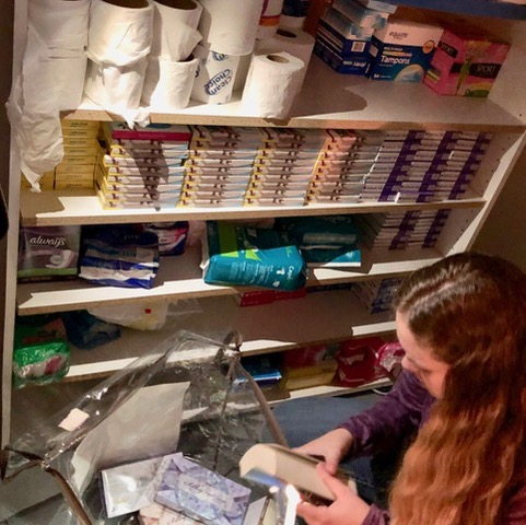 LDS volunteers helped sort these items last spring at our former REACH Home winter shelter on North Union Street. This speeded-up the neat storage of necessities.