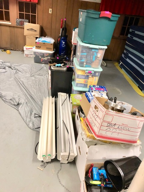 Kitchen items brought from the 102 North Union Street location of last year's REACH shelter.