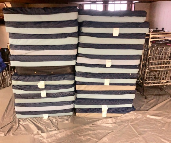 Hospital-type mattresses used at REACH Home shelter.