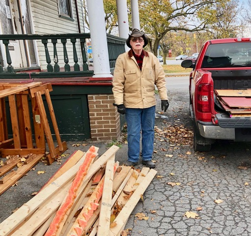The last-minute arrival of a pickup truck made the completion possible.