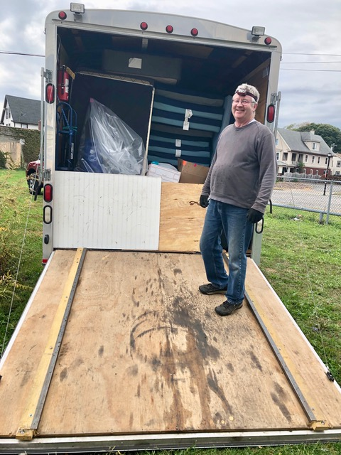 Mattresses and appliances headed for the new 2019-20 REACH wintertime emergency shelter at 720 West Main. No room to spare.